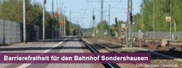 Barrierefreiheit für Bahnhof Sondershausen : Foto: Jan Claus  / pixelio.de