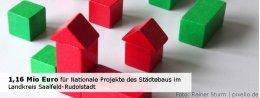 1,16 Mio Euro für Nationale Projekte des Städtebaus im Landkreis Saalfeld-Rudolstadt - Foto: Rainer Sturm - pixelio.de